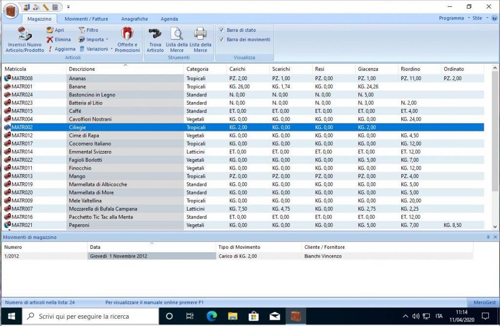 Software per Magazzino Gratuito